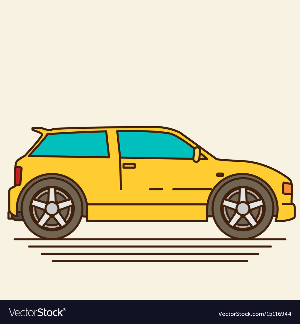 Isolated car flat design style