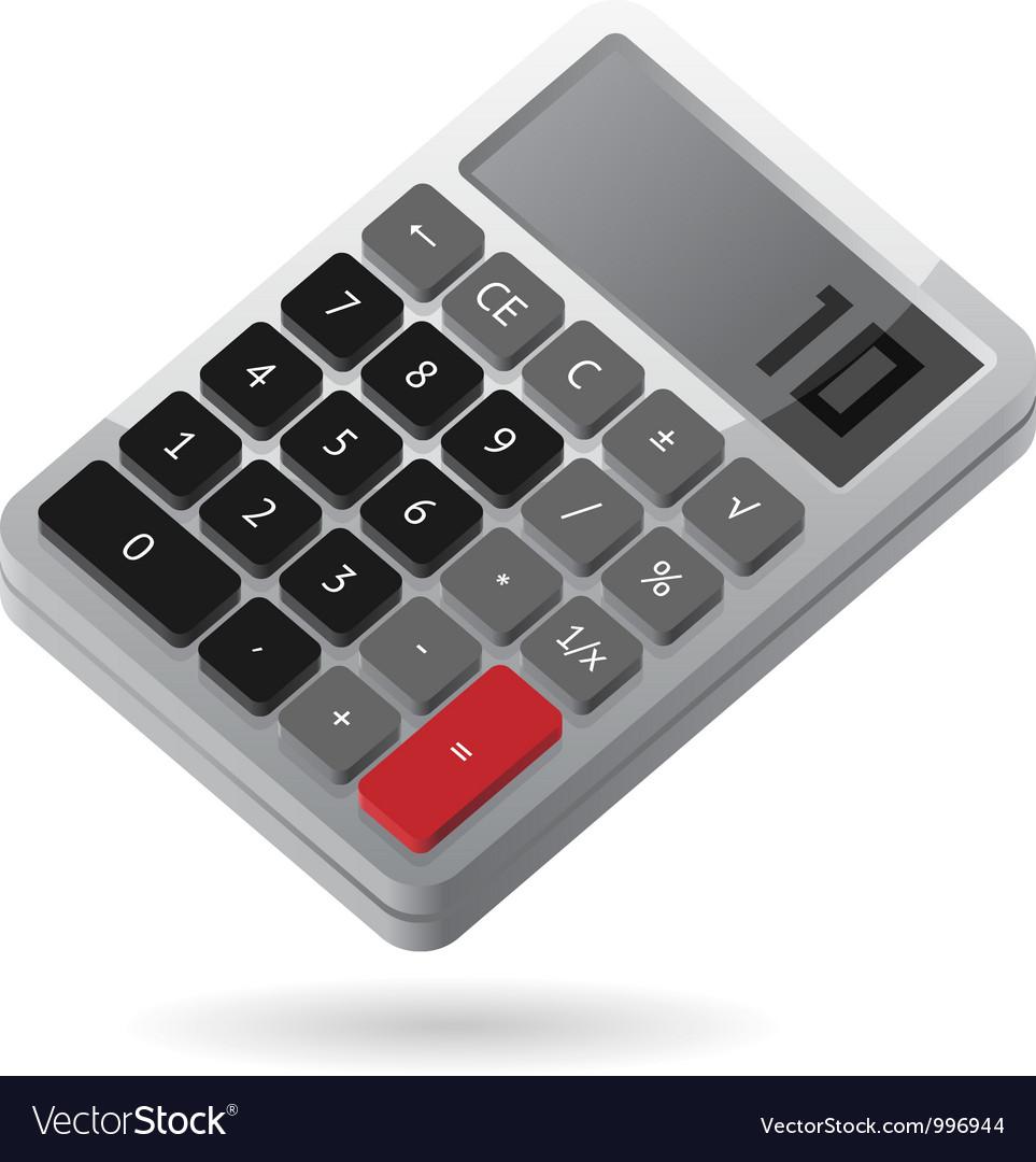Isometric icon of calculator vector image