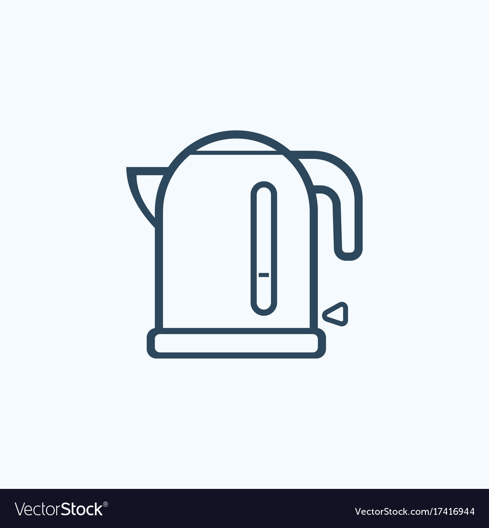 Kettle flat icon vector image