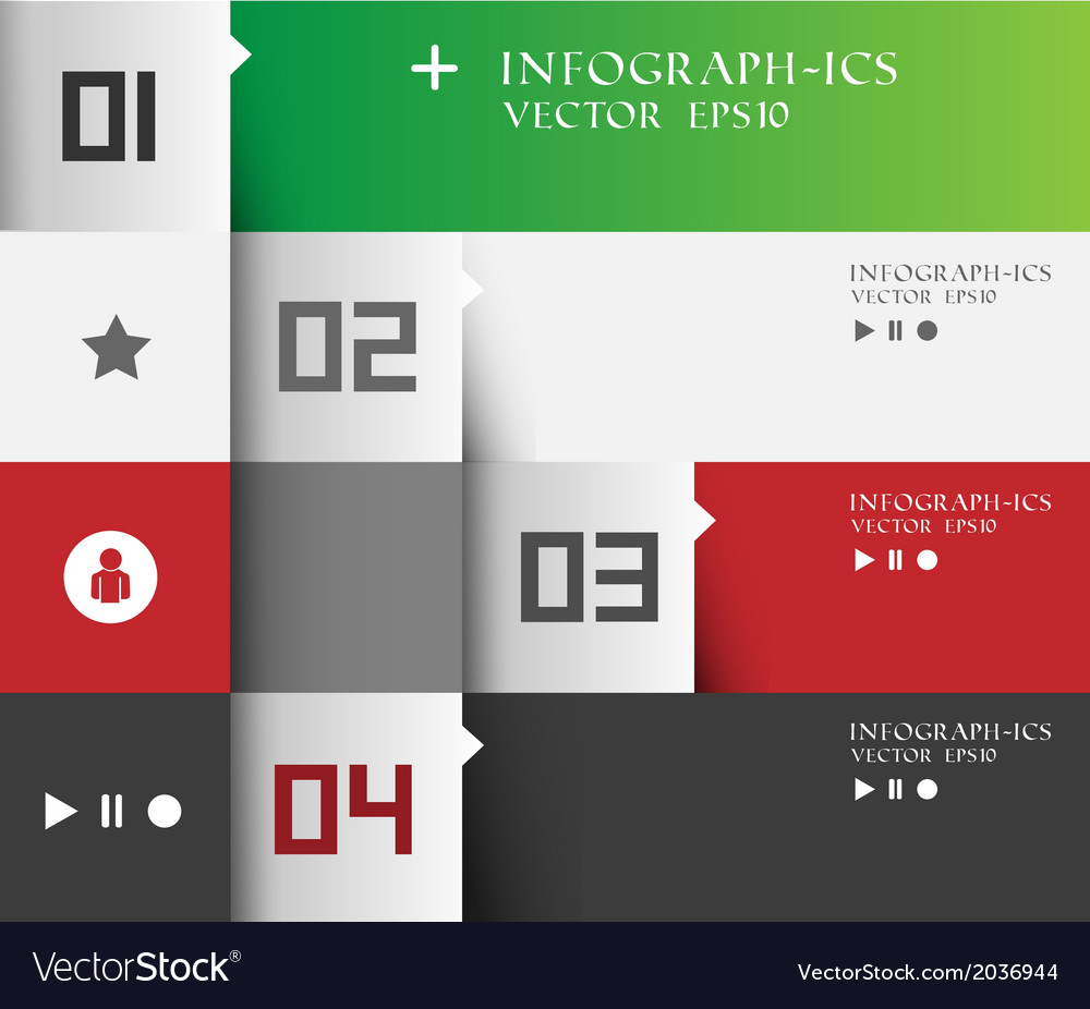 Modern business step options banner vector image