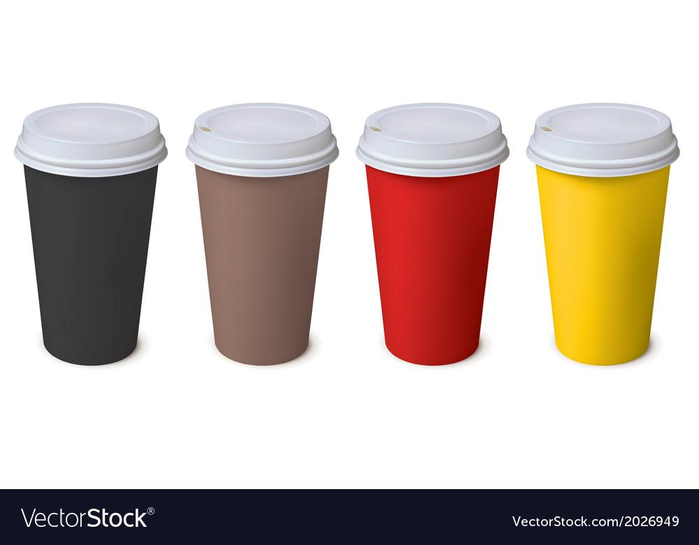 Cup Set vector image