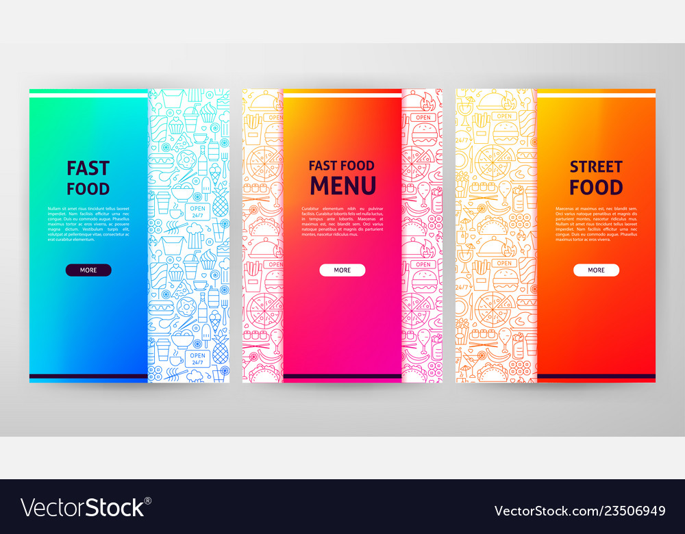 Fast food brochure web design