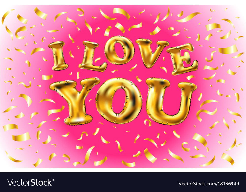 Gold glitter heart greeting card for valentine