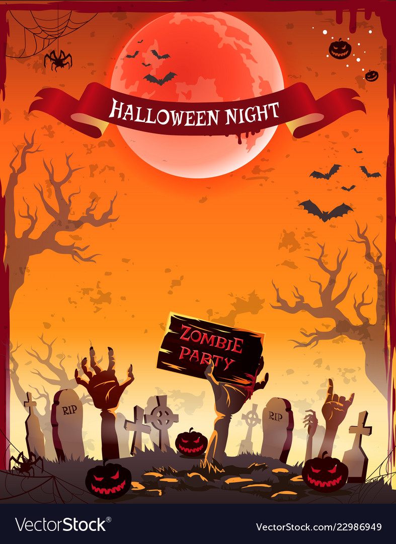 Halloween night zombie party