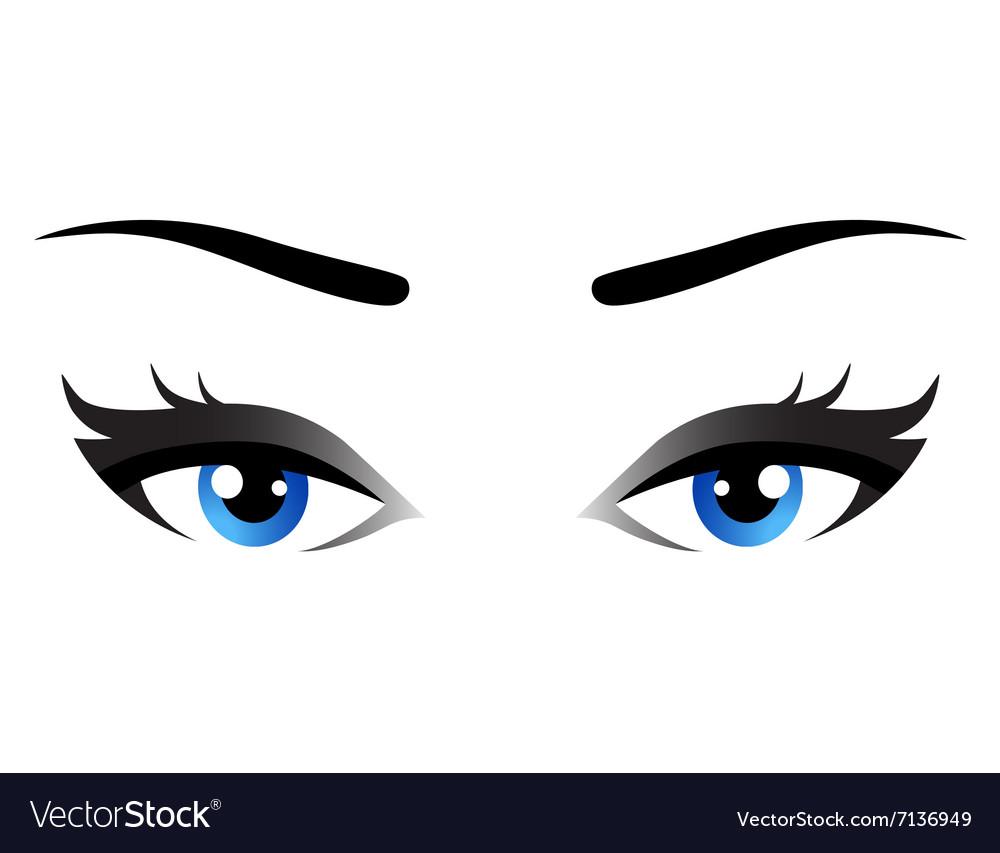 Isolated blue woman eyes