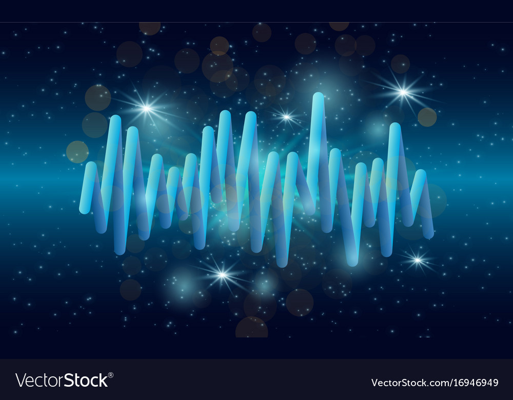 Music waves background 3d sound music equalizer