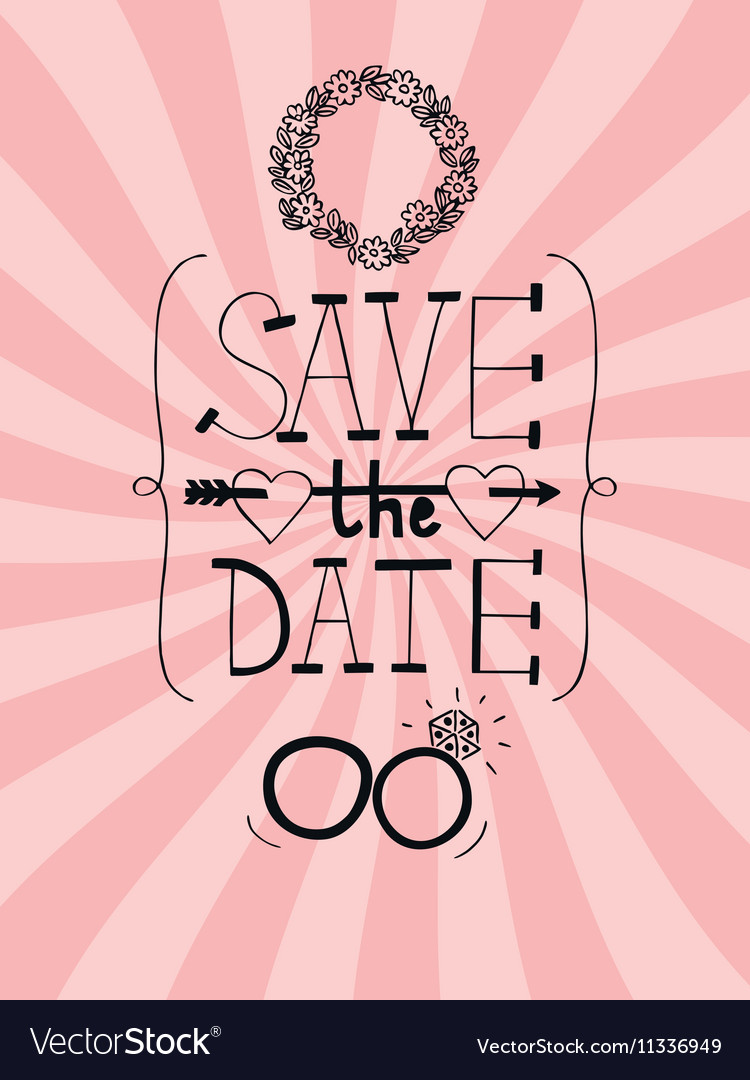 Pink Wedding Background With Words Save The Date