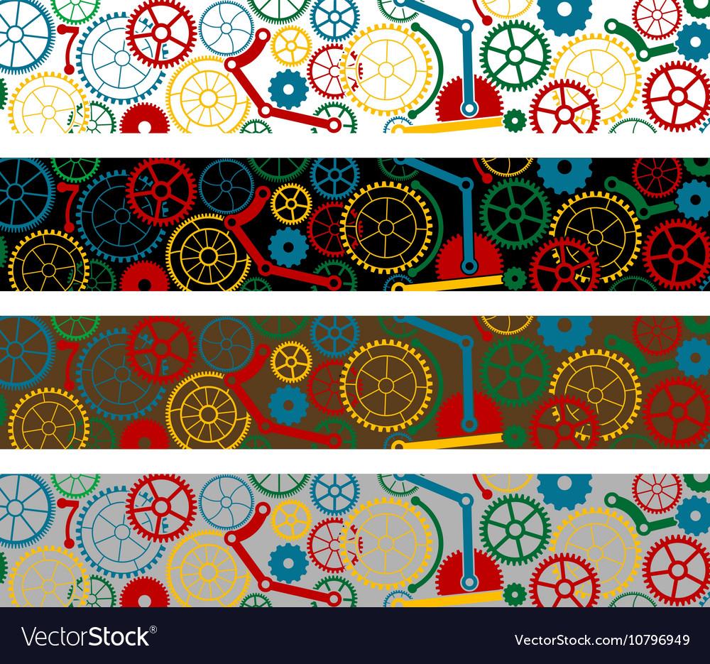 Set of color gear borders