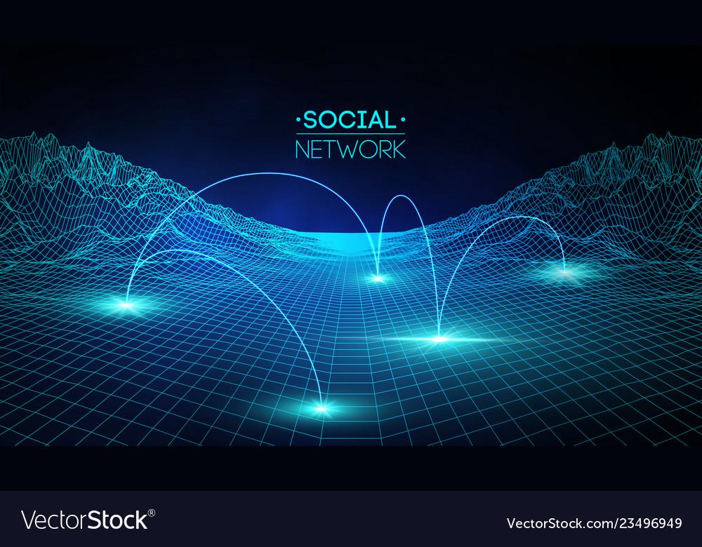 Social network media global people communication