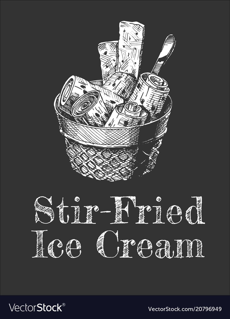 Stir-fried ice cream