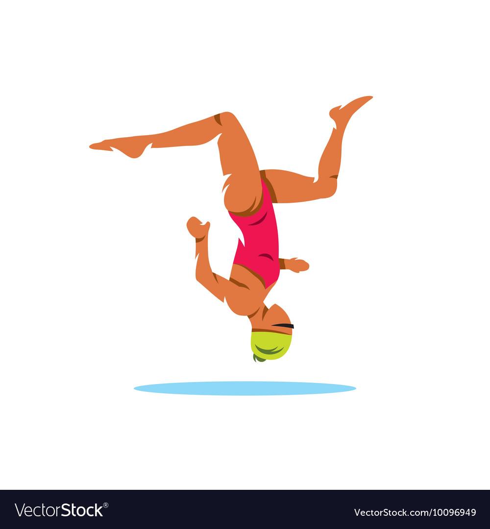 Synchronized swimming Cartoon vector image