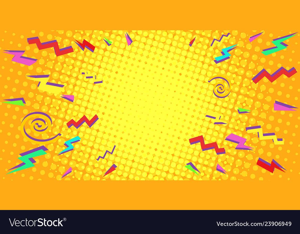 Yellow eighties retro background