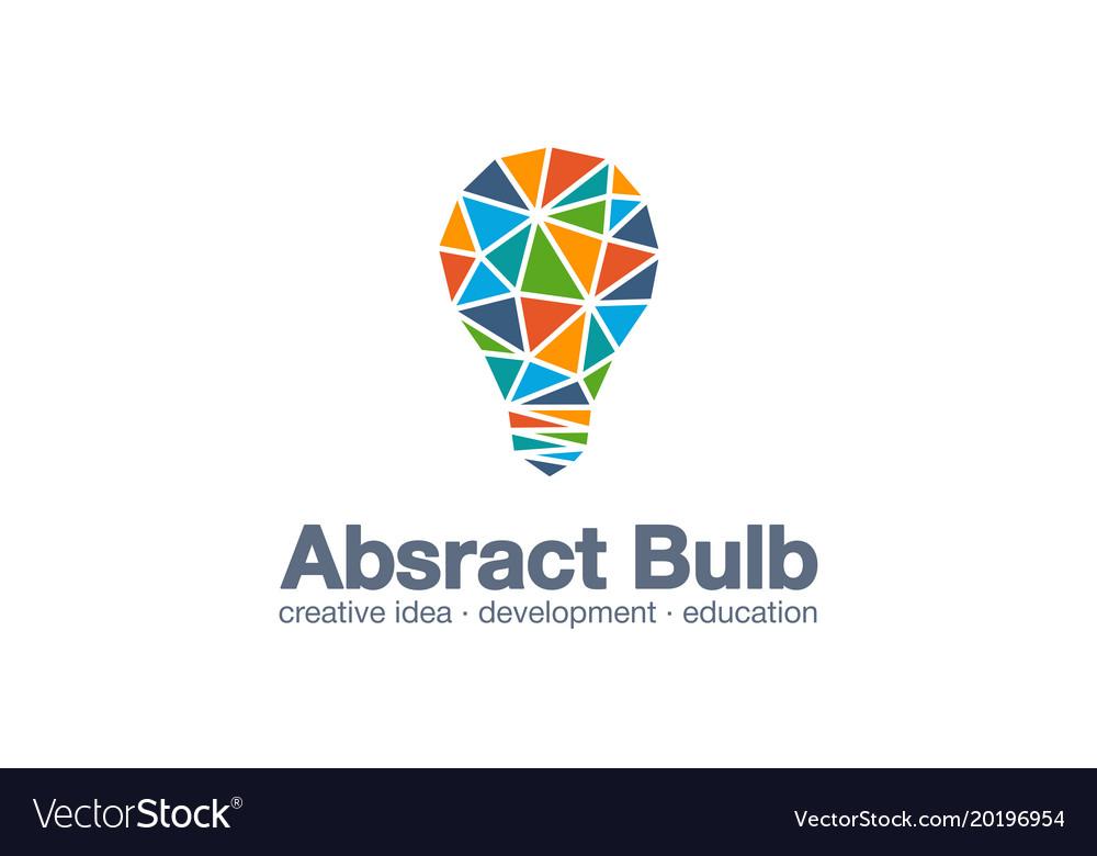 Abstract business company logo light bulb idea