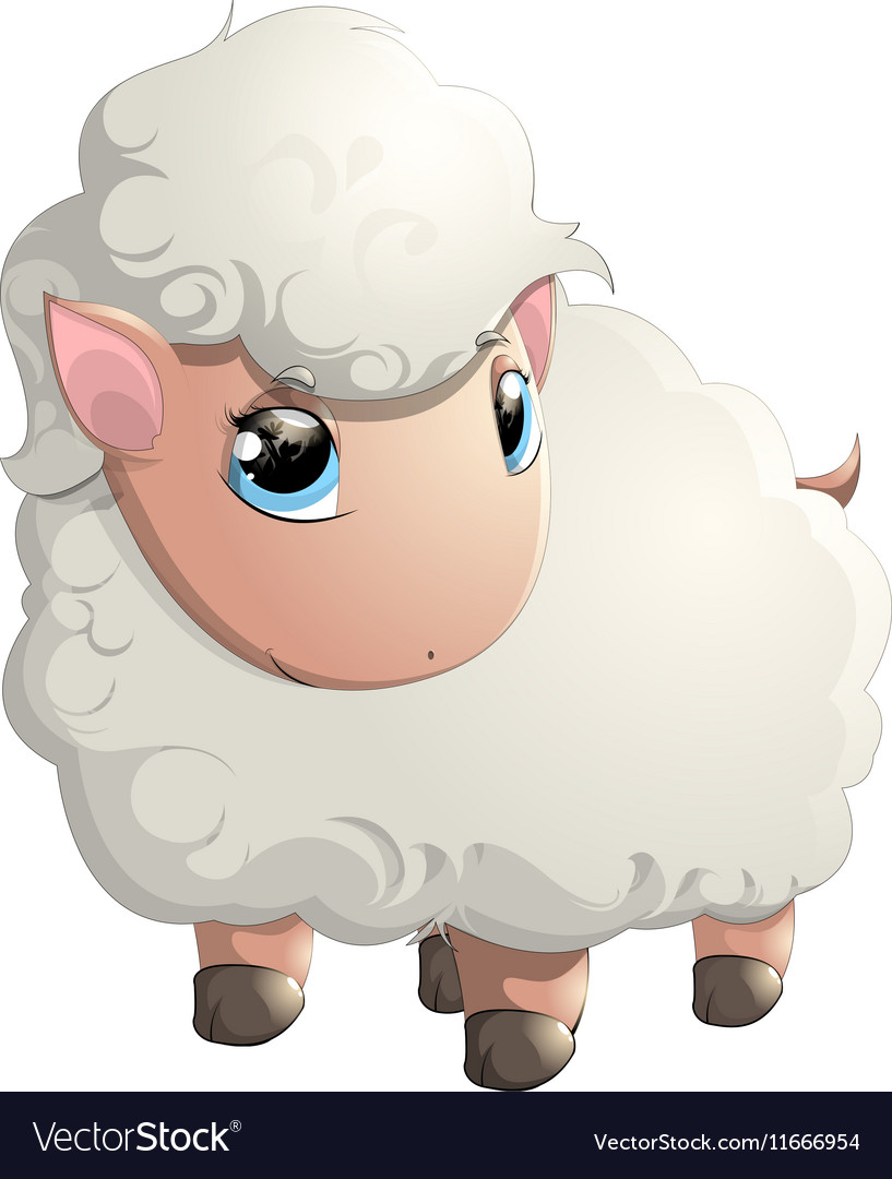 Beautiful cheerful sheep