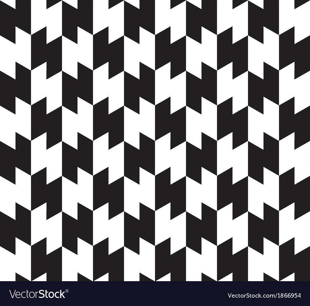 Black White Abstract Geometric Seamless Pattern Vector Image