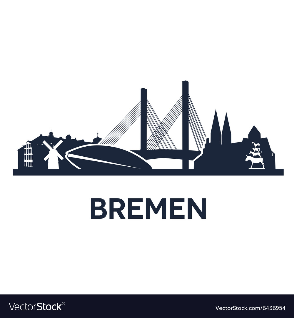 Bremen city skyline