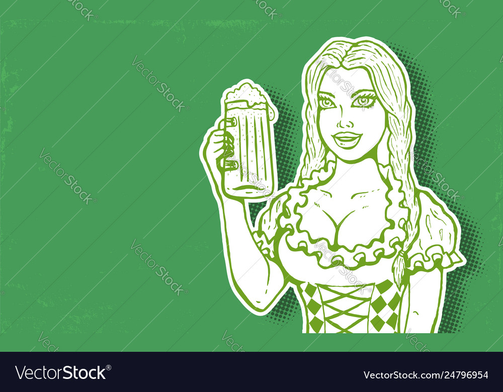 Girl and beer