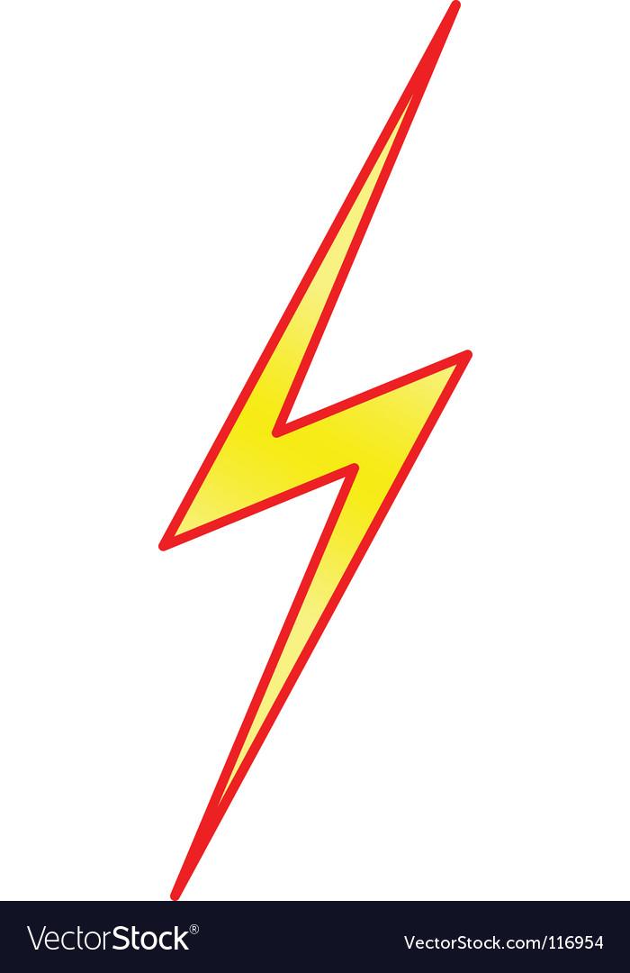 Lightning Symbol Royalty Free Vector Image Vectorstock