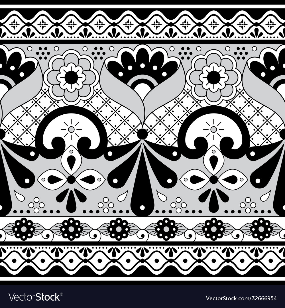 Mexican talavera pottery seamless pattern