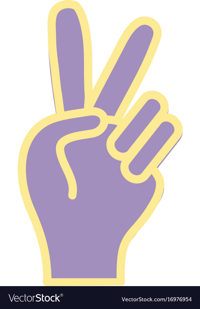 Nice Hand With Peace And Love Symbol Royalty Free Vector
