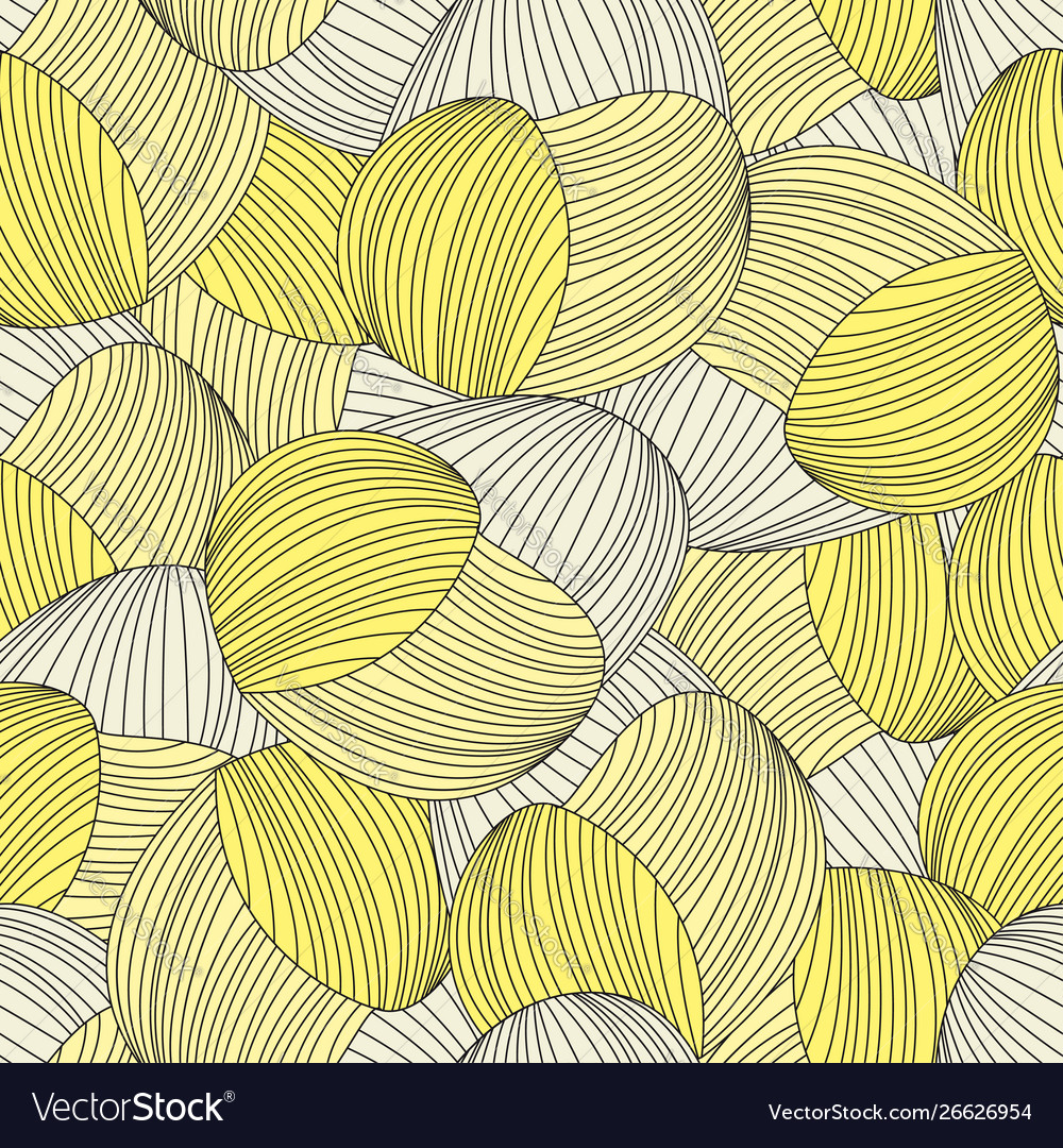 Seamless abstract hand-drawn pattern waves