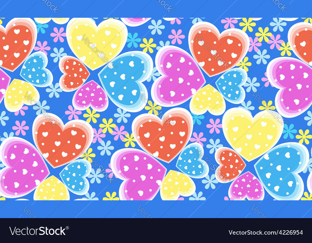 Seamless candy color hearts pattern valentines