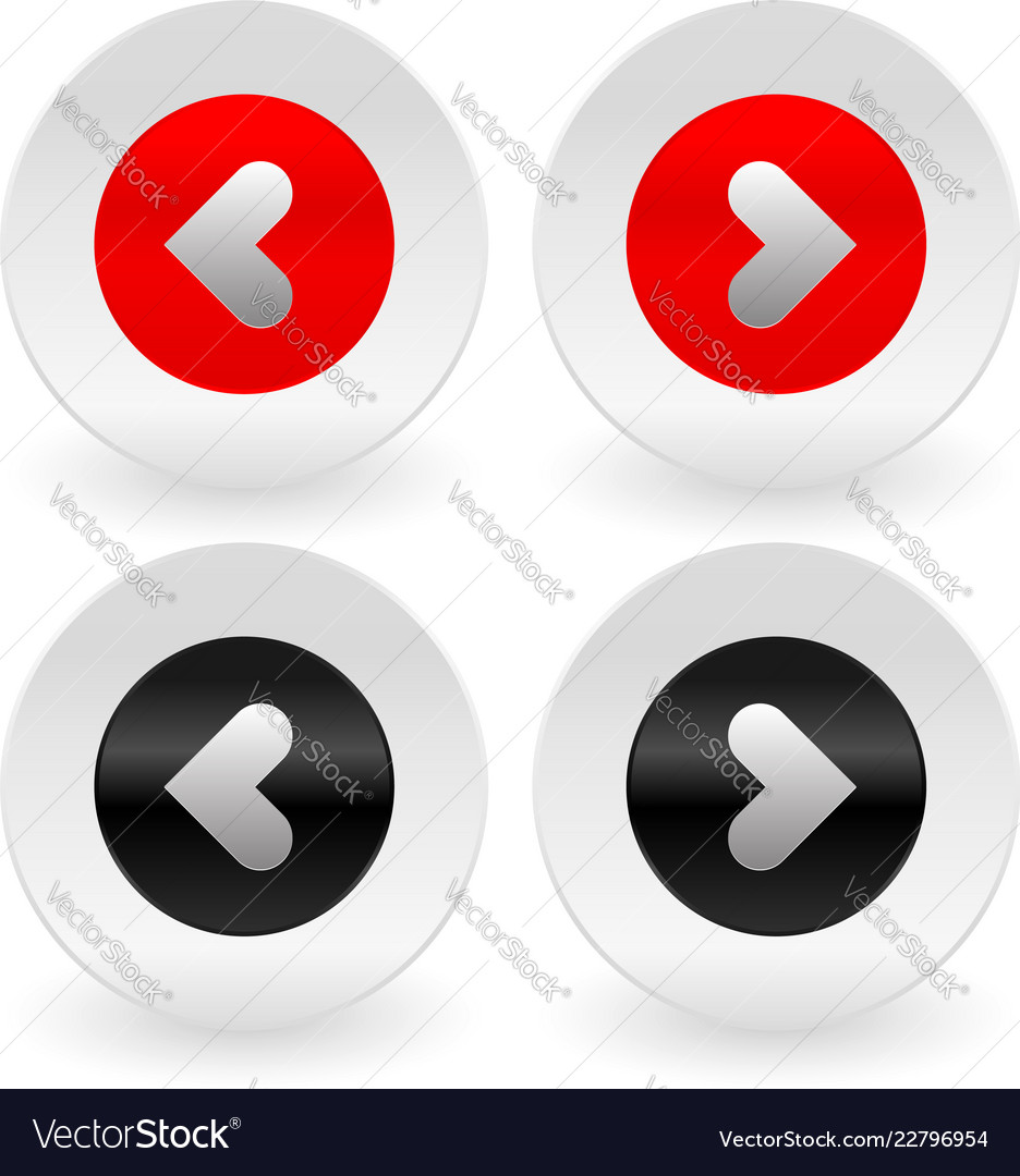 Stylish left and right arrows icons