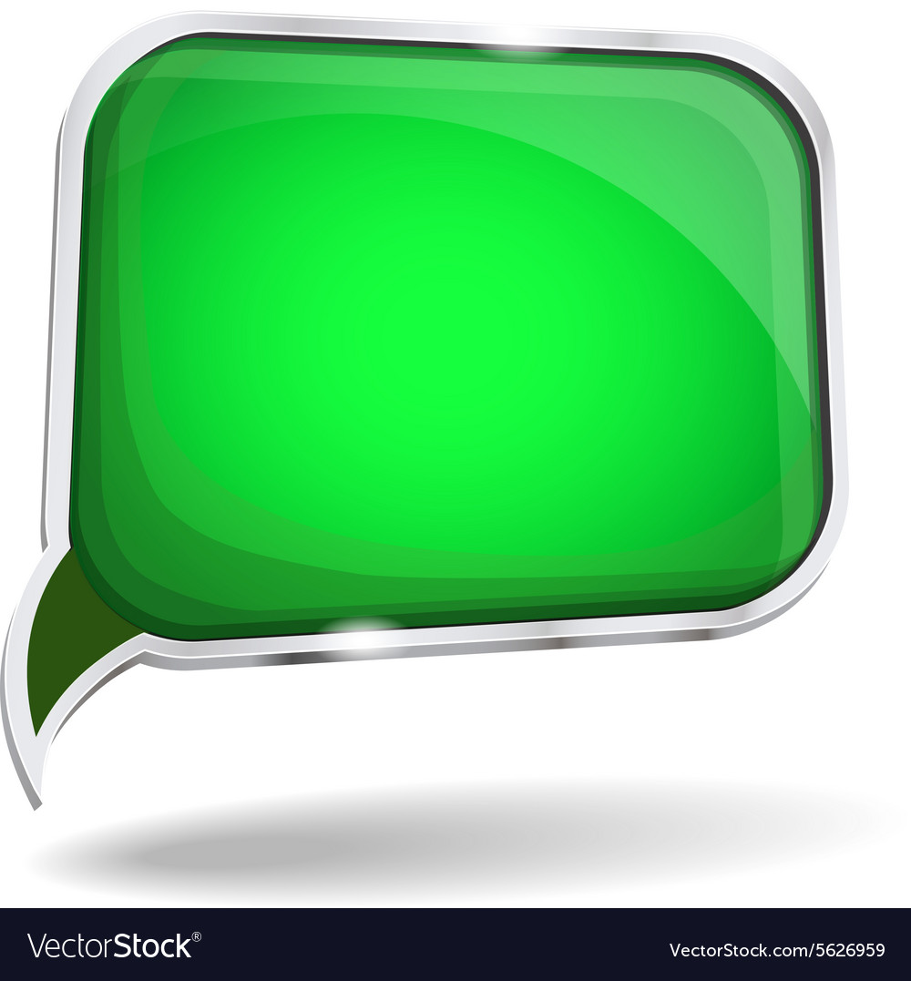 Abstract glossy speech bubble in perspective vector image