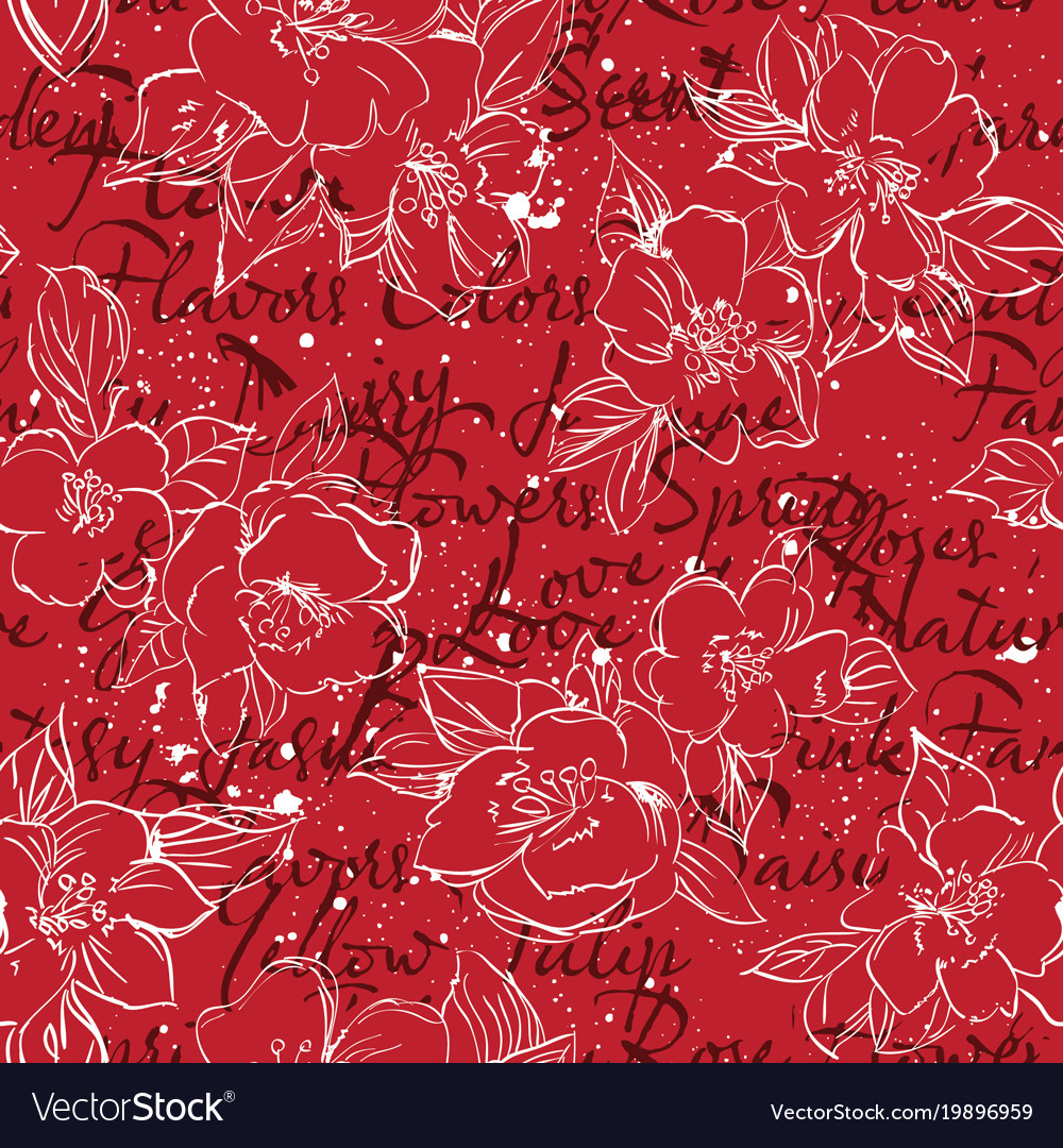 Floral typography background print