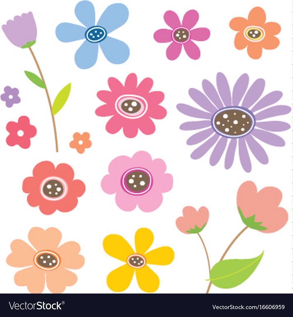 Flower cartoon cute color royalty free vector image flower cartoon cute color vector image izmirmasajfo