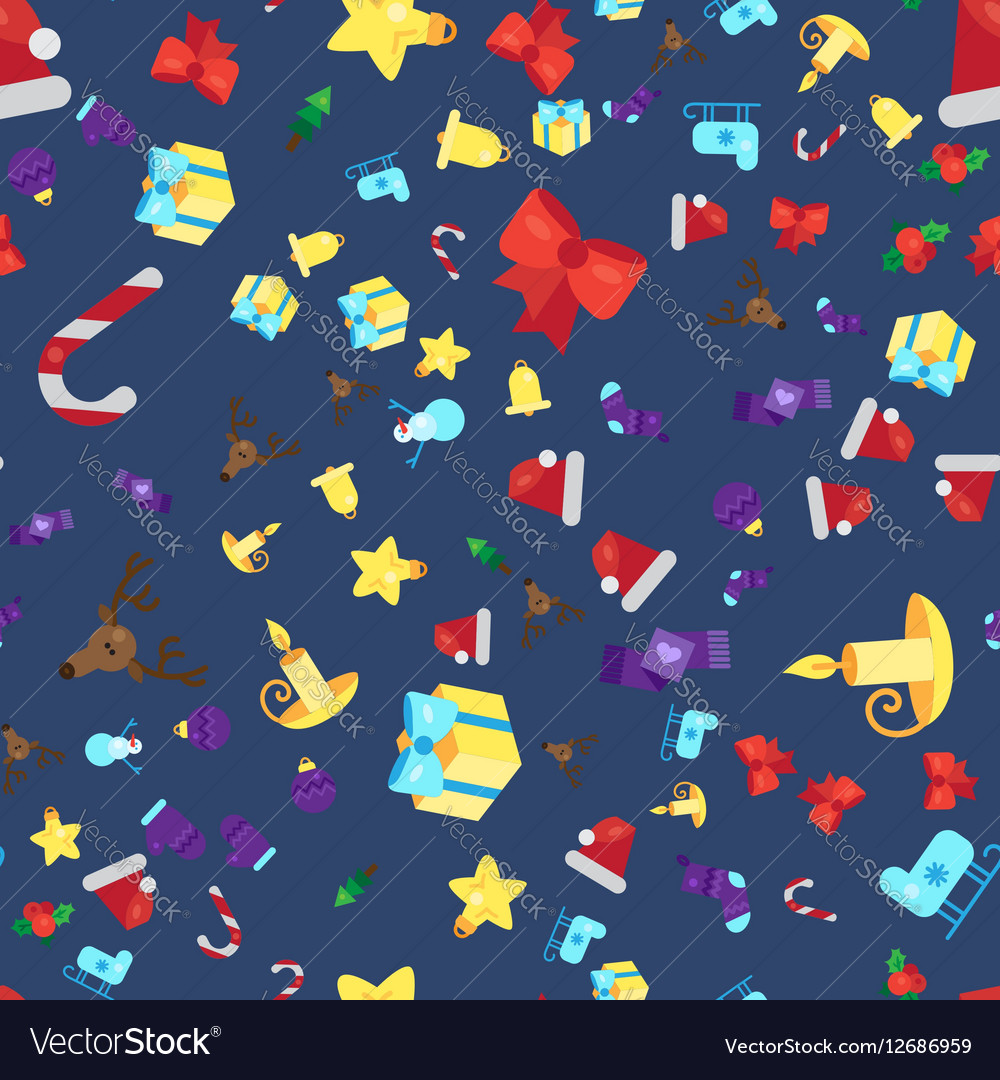 Merry Christmas Seamless Pattern