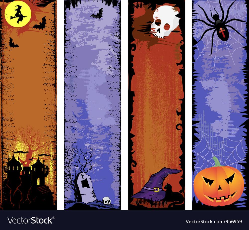 Set of backgrounds halloween