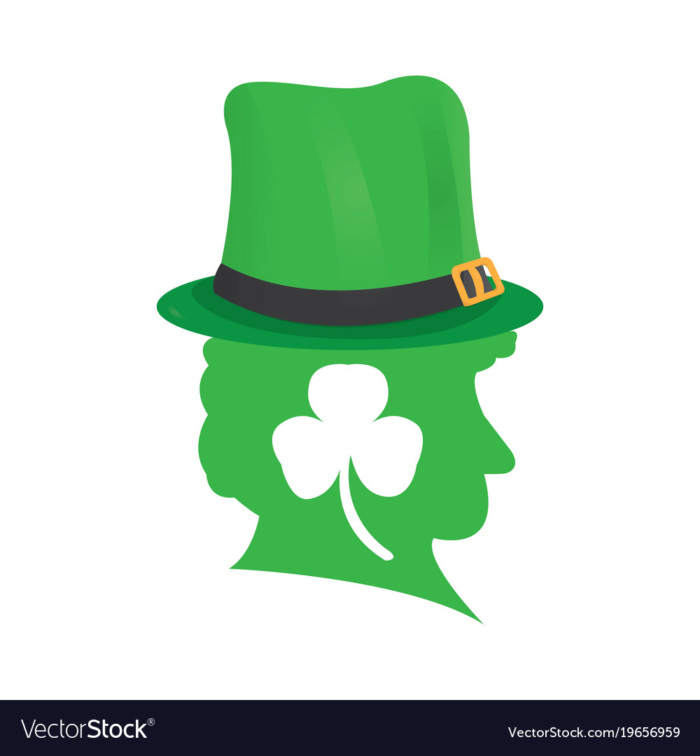 Silhouette of an irish elf vector image