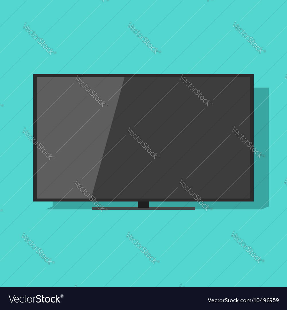 TV screen isolated on green