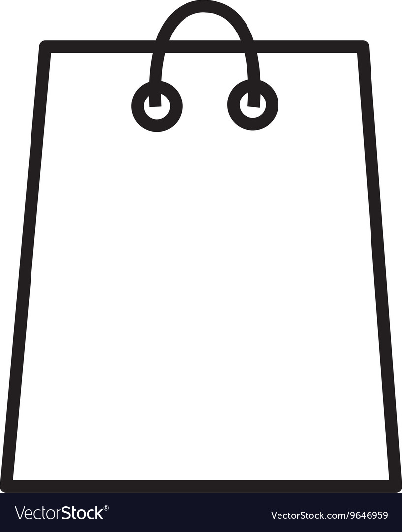 White shopping bag graphic