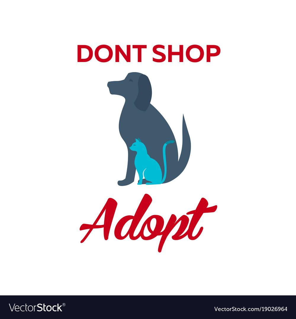 Adopt logo dont shop adopt adoption concept