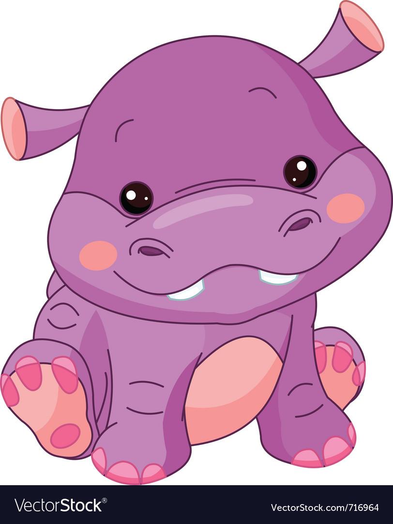 cartoon hippo royalty free vector image vectorstock rh vectorstock com Cute Cartoon Hippo Cartoon Lion