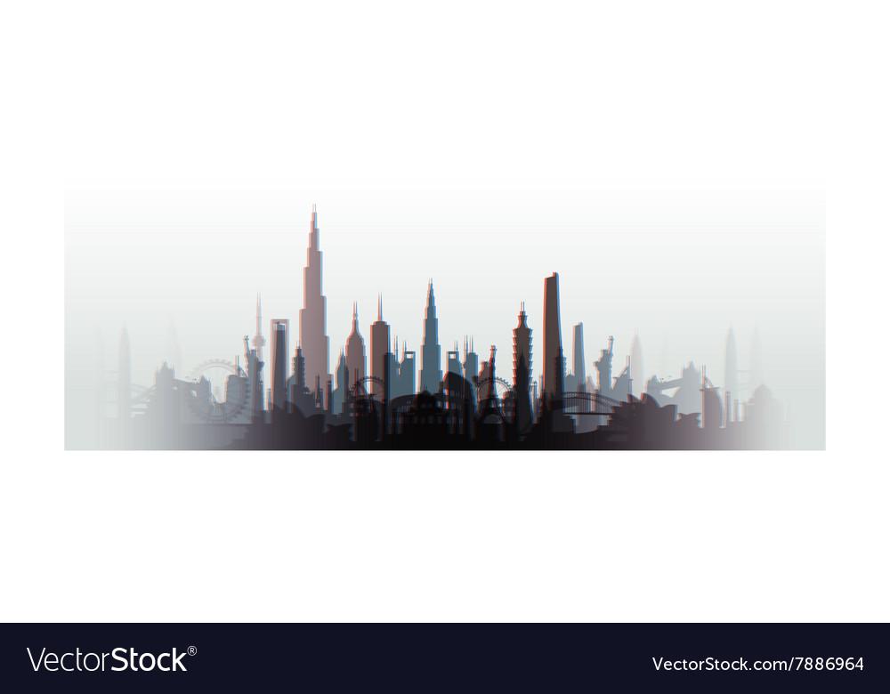 Cityscape blurred vector image