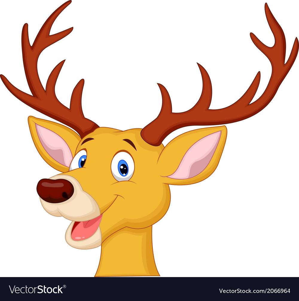 Cute Deer Head Cartoon Vector Art