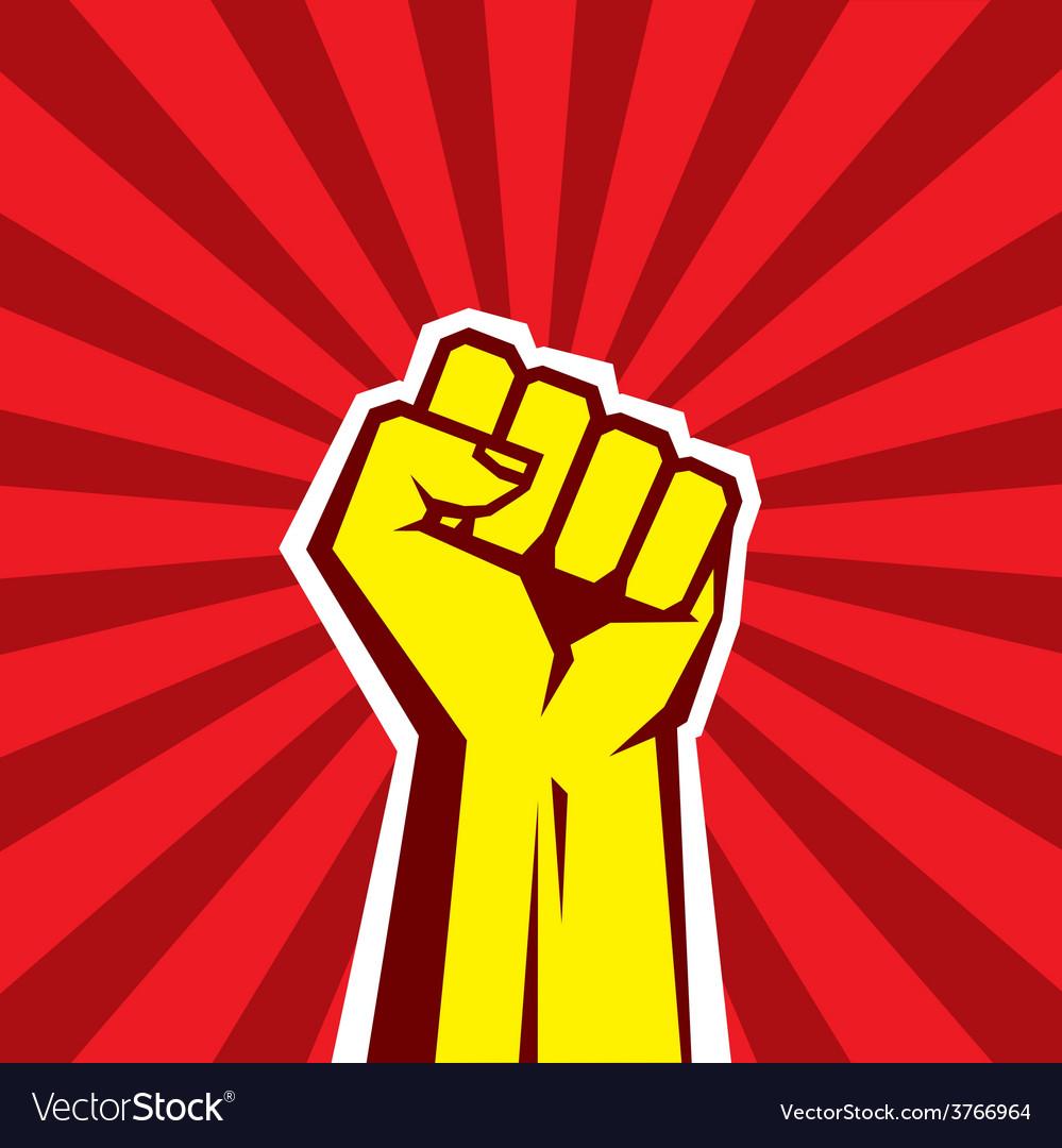 Hand Up Proletarian Revolution vector image