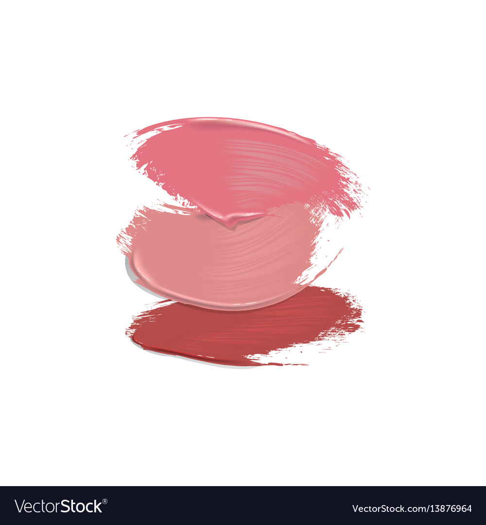 Lipstick smears on white background vector image
