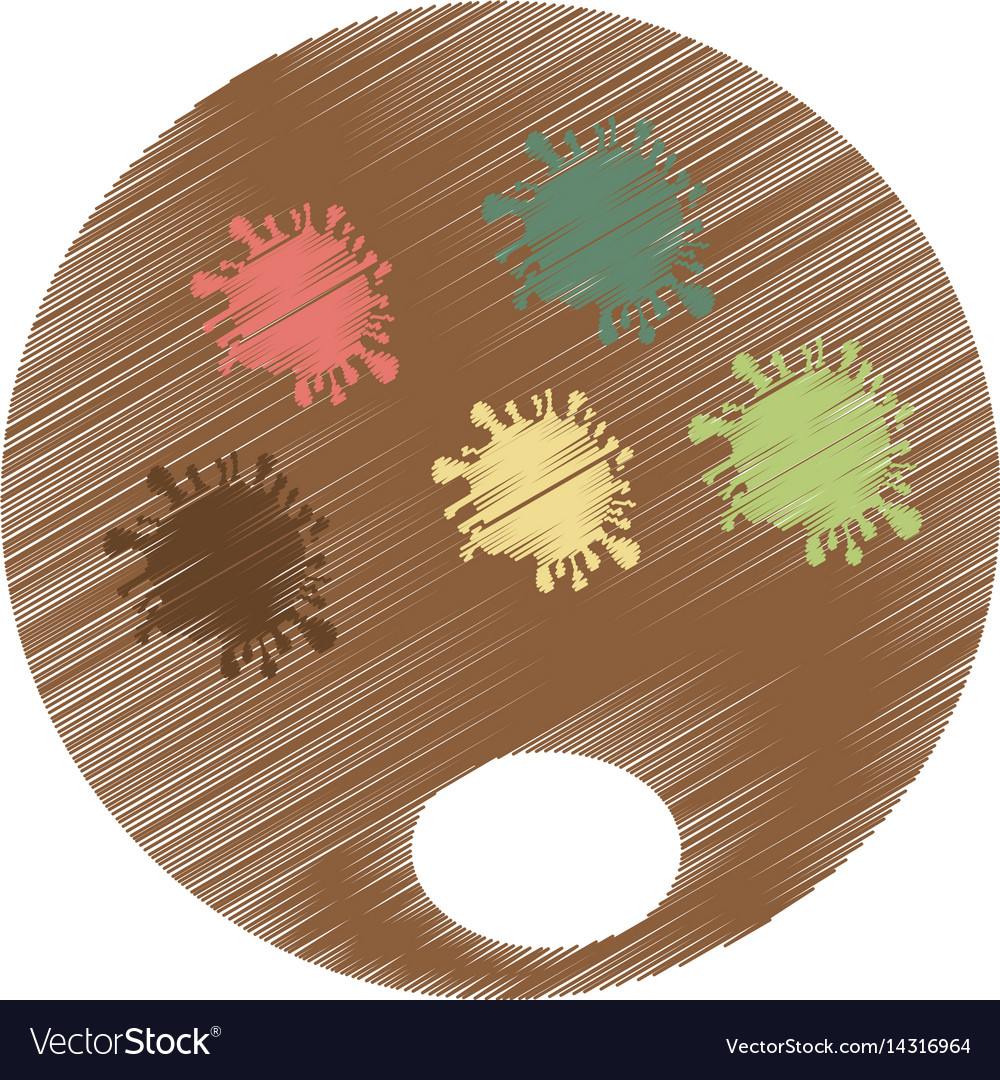 Pallete paint isolated icon vector image
