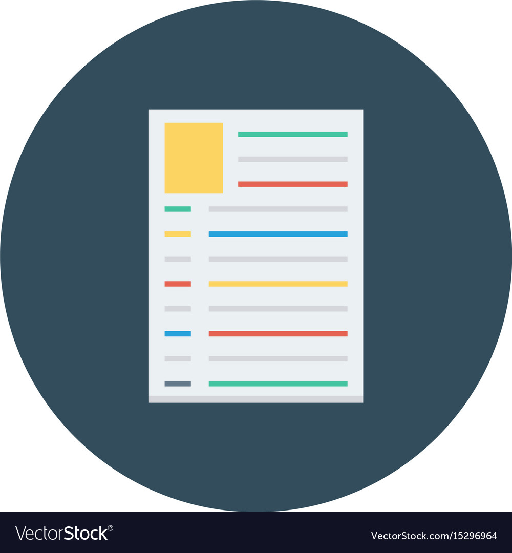 Resume Profile Document Job Cv Royalty Free Vector Image