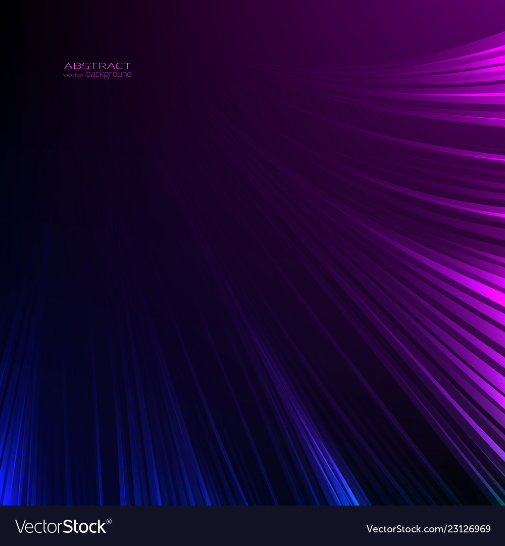 Abstract Background Neon Lights Blue Purple Lines