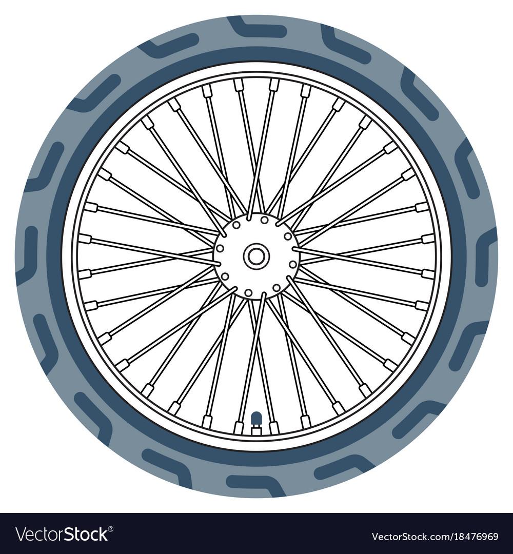 Bike wheel icon vector image