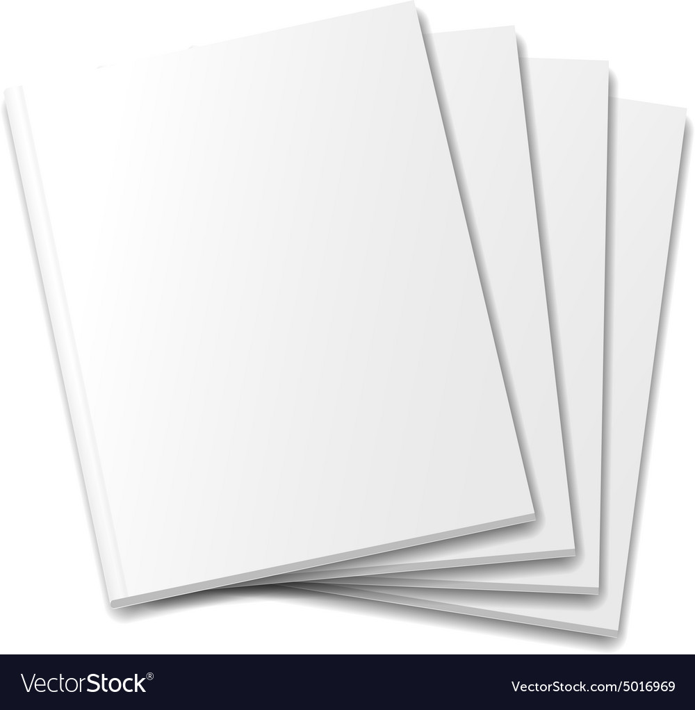 Blank covers mockup magazine template on white