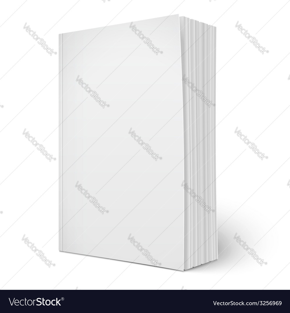 Blank vertical softcover book template with pages Vector Image