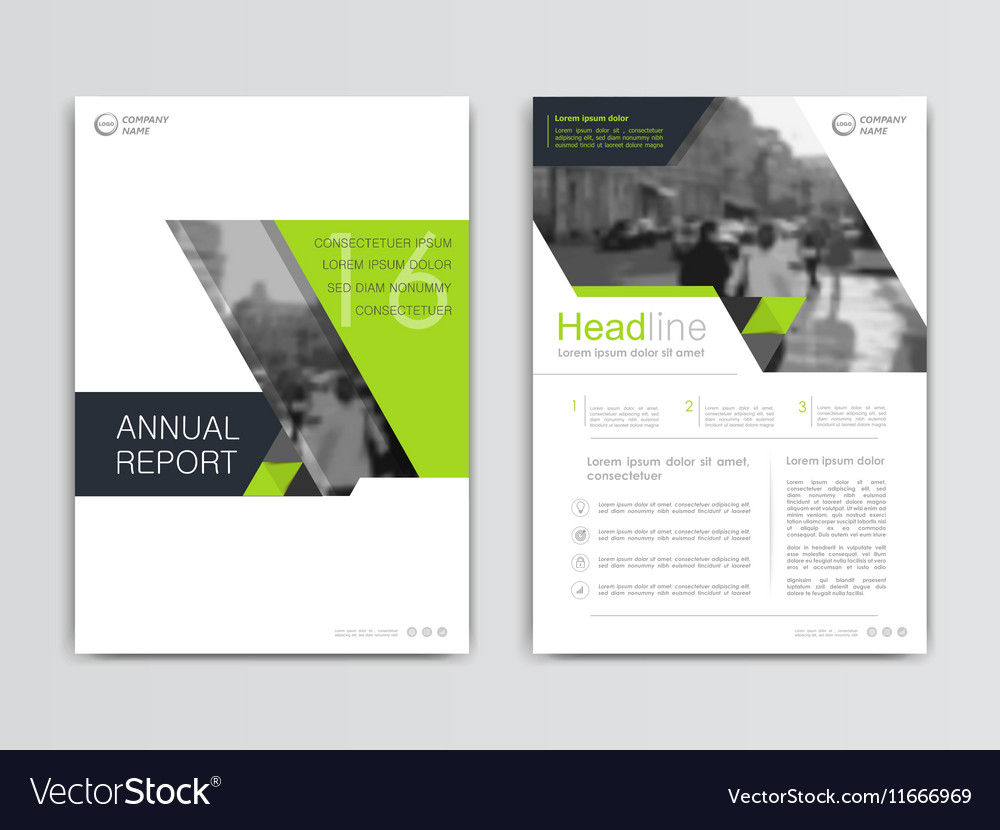 Cover Design Annual Report Template Royalty Free Vector
