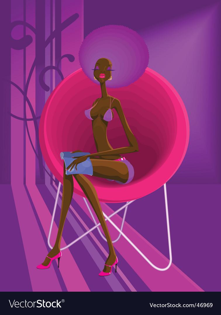 Disco-girl vector image
