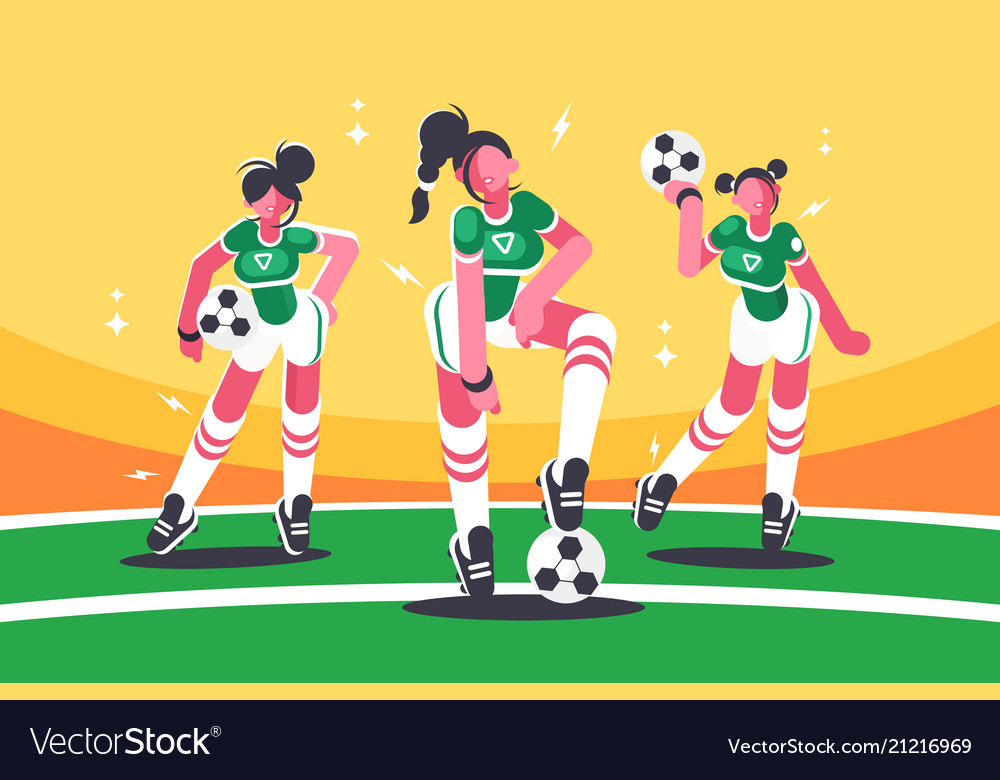 Football woman team